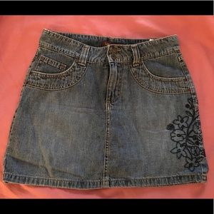 Jeans denim skort, 5/6P, Cute stitched pattern